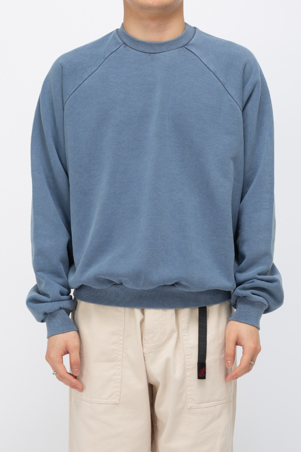 HEAVY WEIGHT OVERSIZE SWEATSHIRT WASHED(PREMIUM BASIC) BLUE