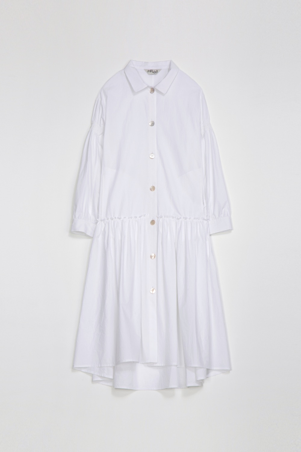 SAISON SHIRT DRESS - OPTIC WHITE COTTON