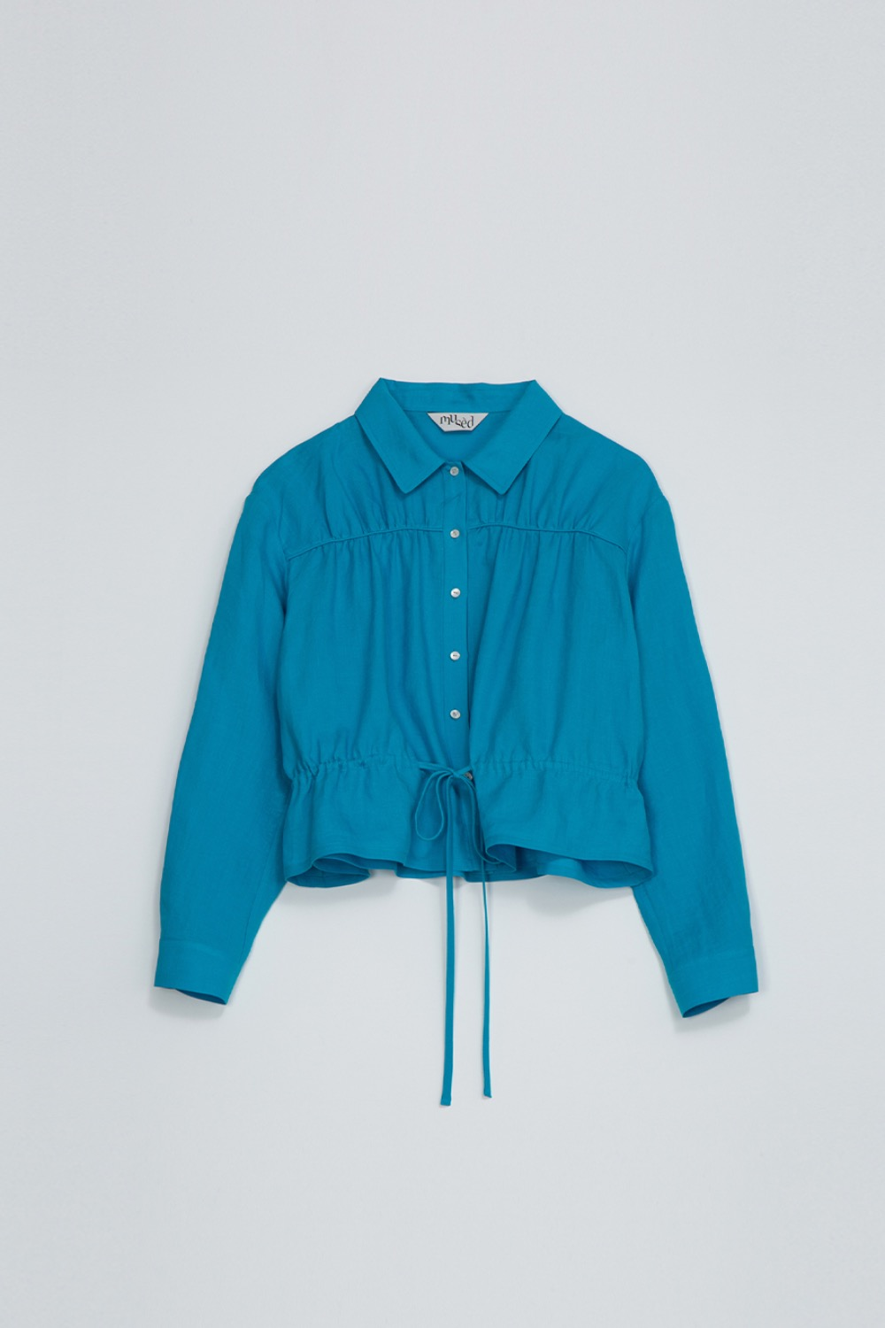 BIEN SHIRT JACKET - AQUA BLUE LINEN