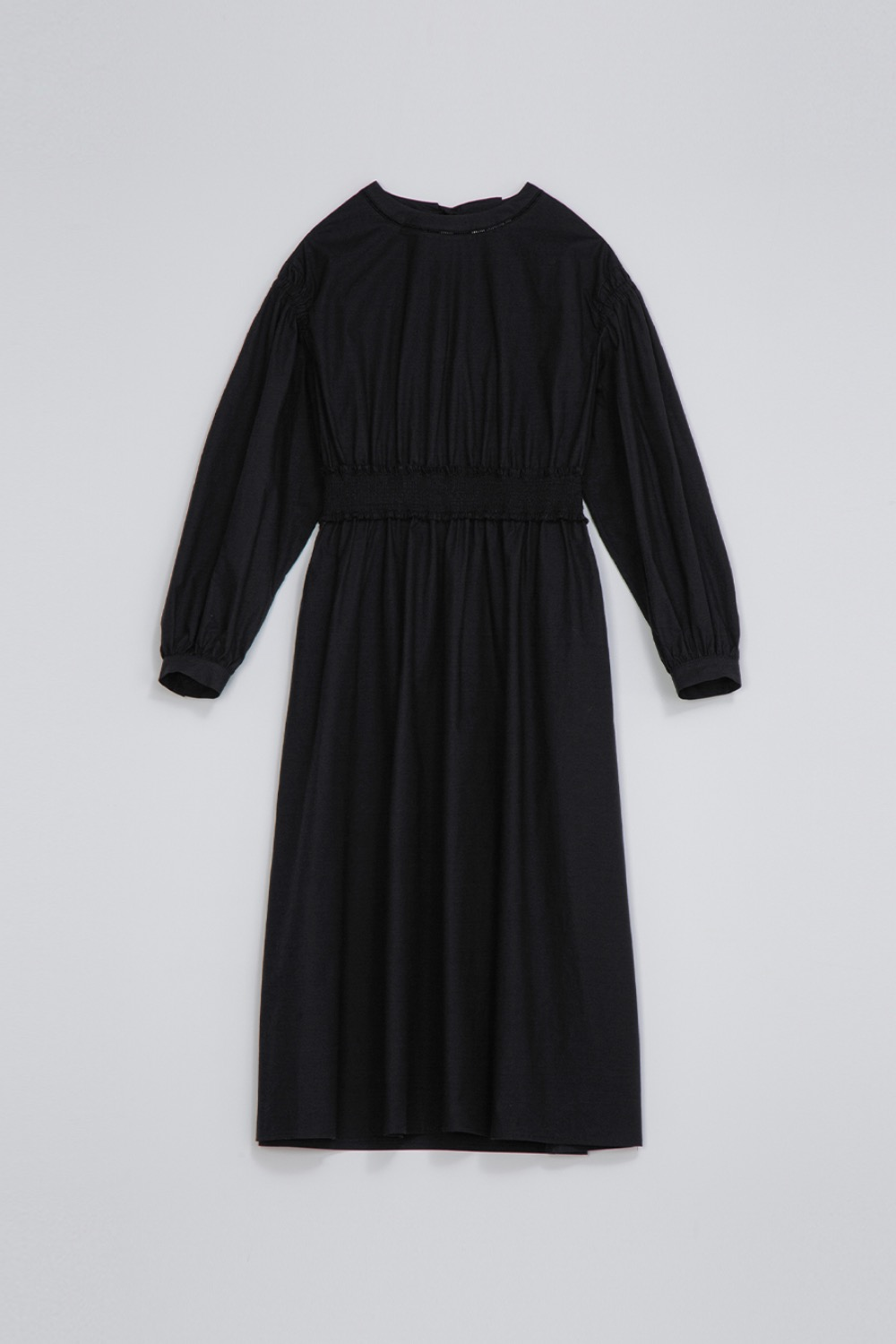 BONHEUR SMOCK DRESS -  BLACK COTTON