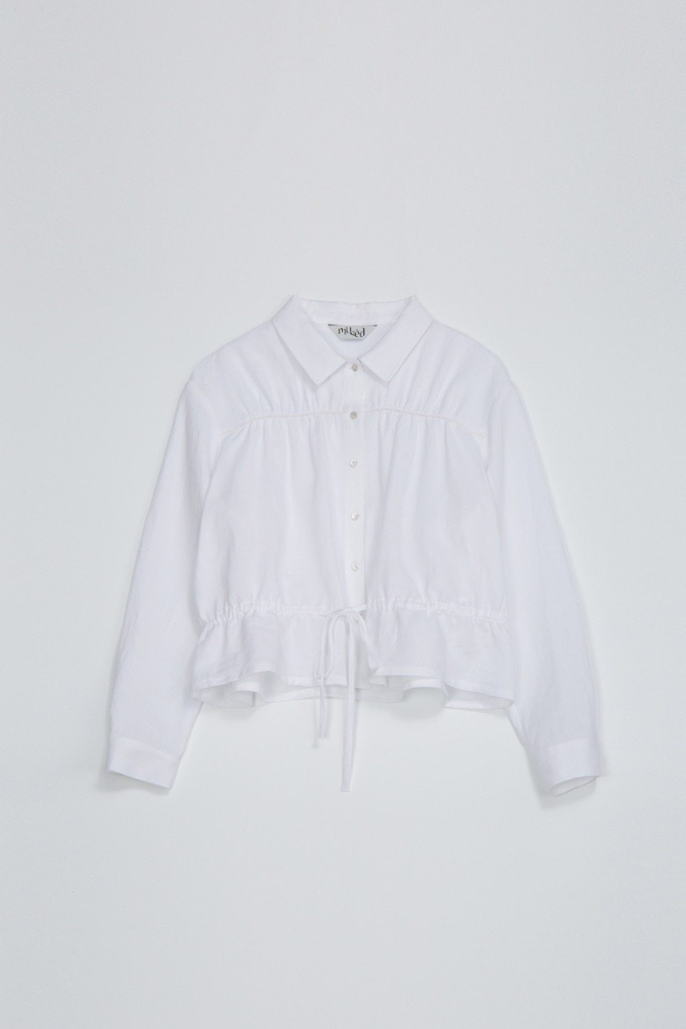 BIEN SHIRT JACKET -OPTIC WHITE LINEN