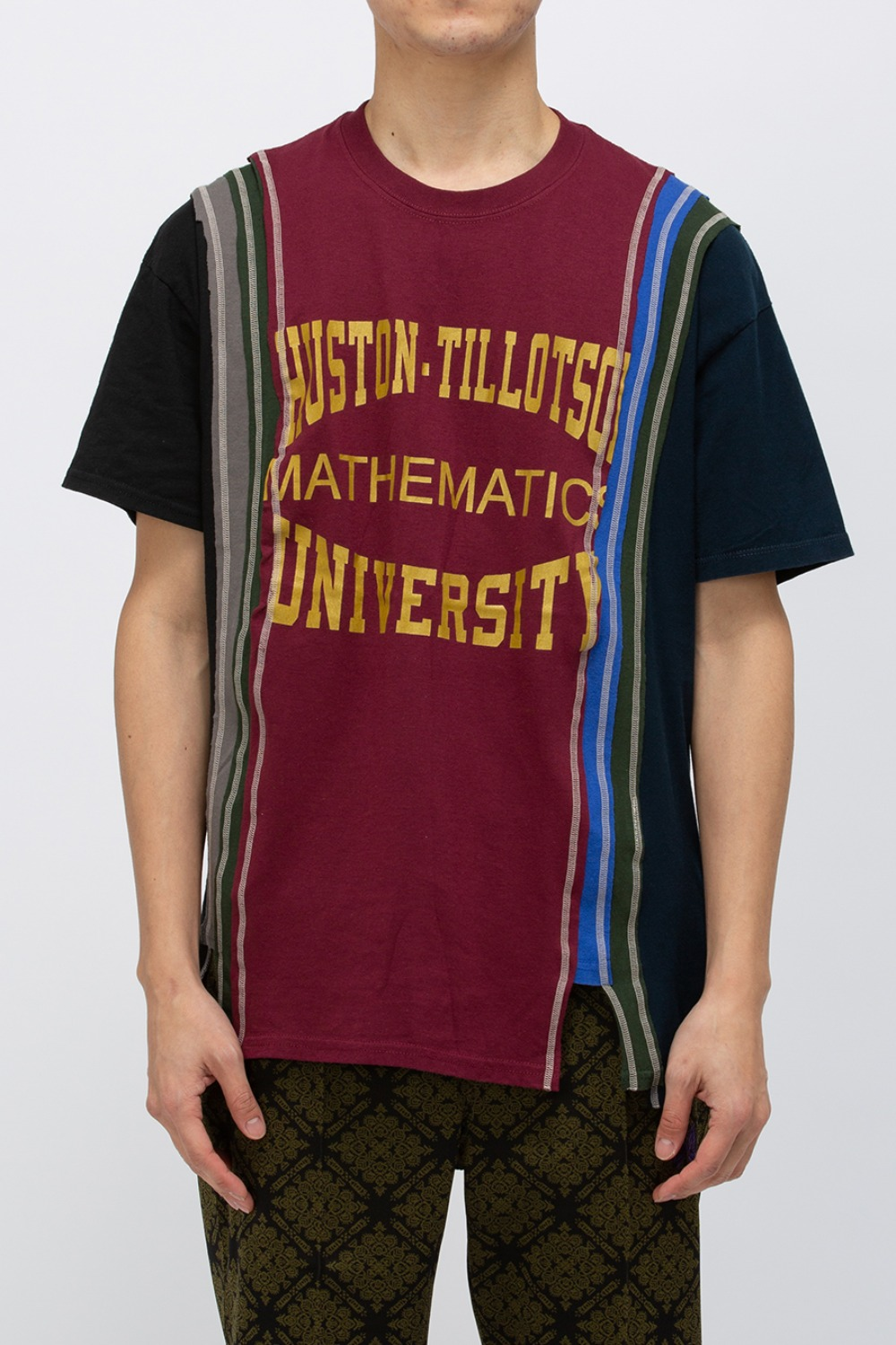 (FRE-10)REBUILD BY NEEDLES 7 CUTS WIDE TEE - COLLEGE