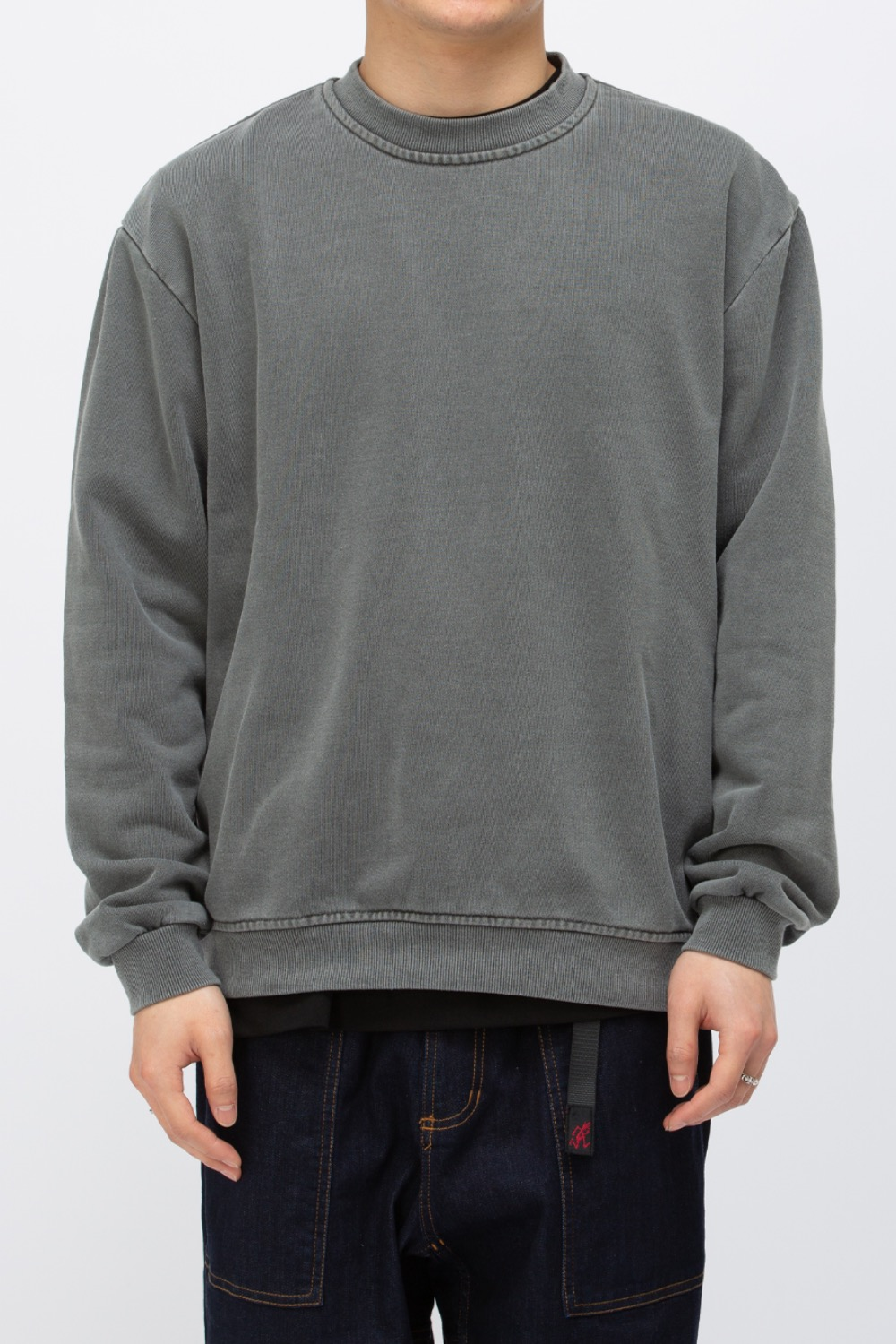 HEAVY WEIGHT OVERSIZE SWEATSHIRT WASHED(PREMIUM BASIC) CHARCOAL