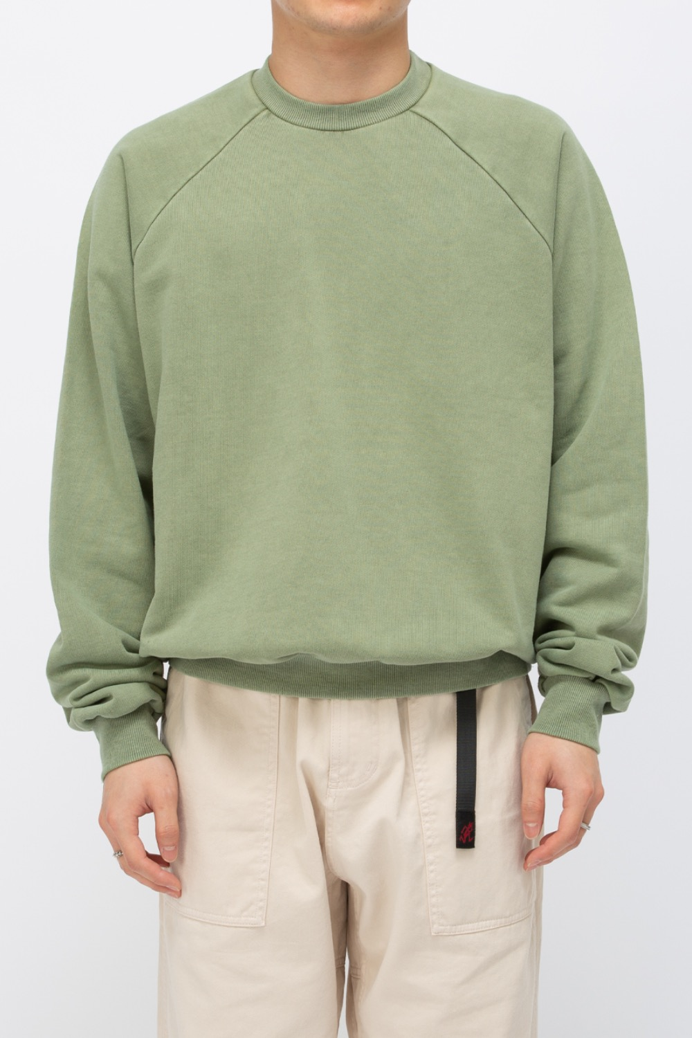 HEAVY WEIGHT OVERSIZE SWEATSHIRT WASHED(PREMIUM BASIC) GREEN