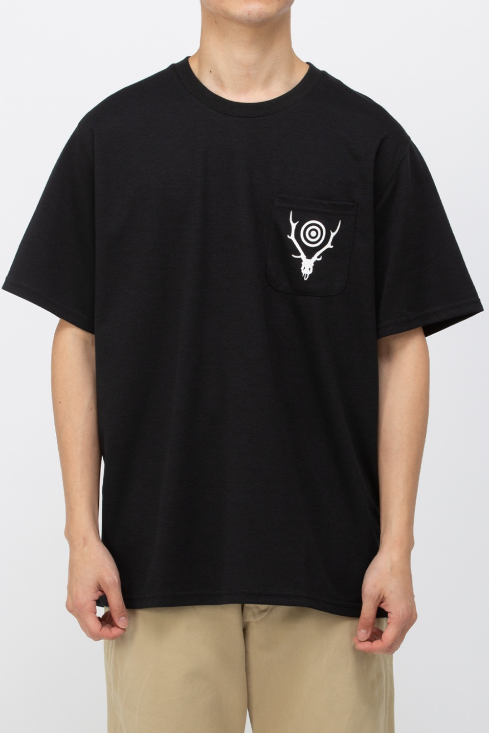 S/S ROUND POCKET TEE - CIRCLE HORN