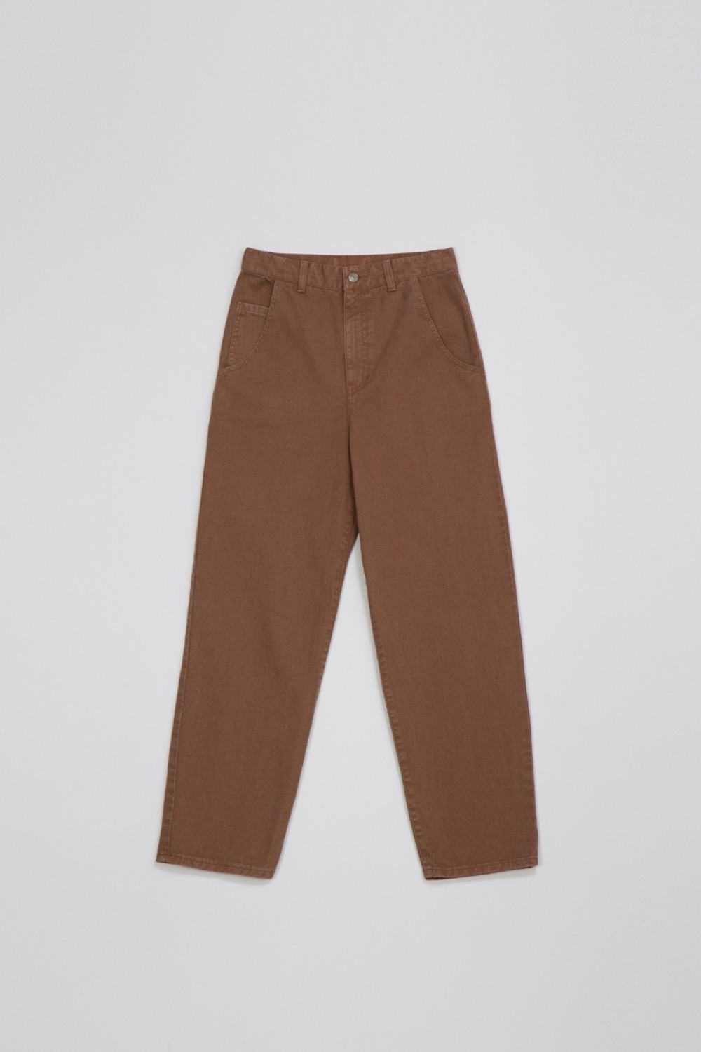 GARMENT DYED HIGHRISE JEAN - MOCHA COTTON