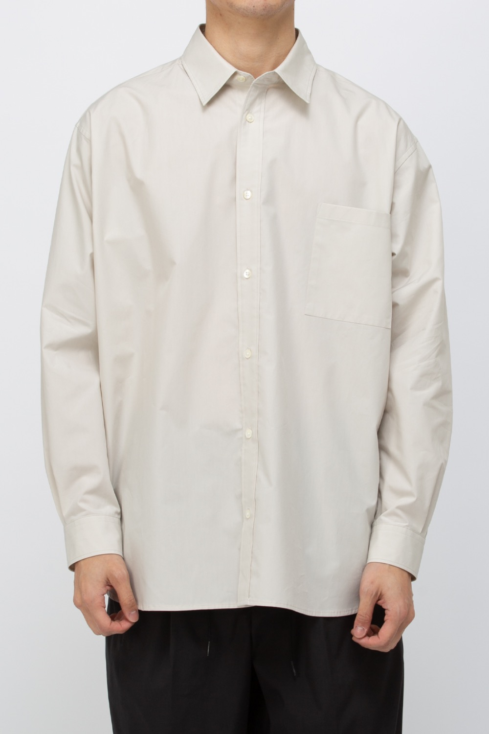 TYPEWRITER COTTON RELAXED SHIRTS IVORY