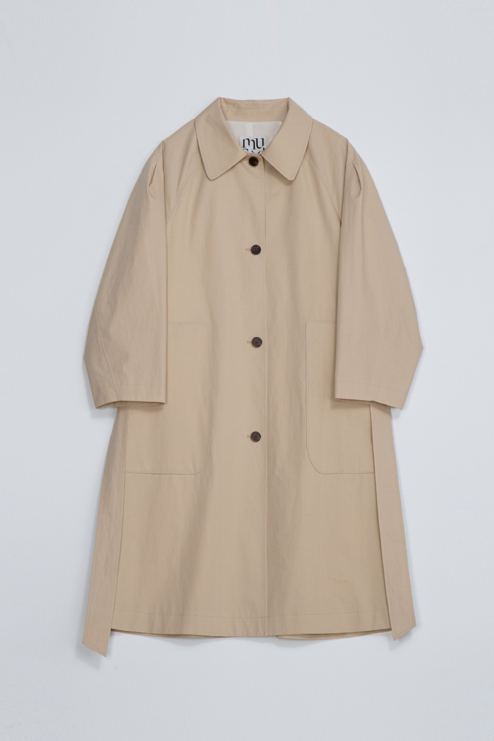 BON TRENCH COAT - BEIGE COTTON TWILL