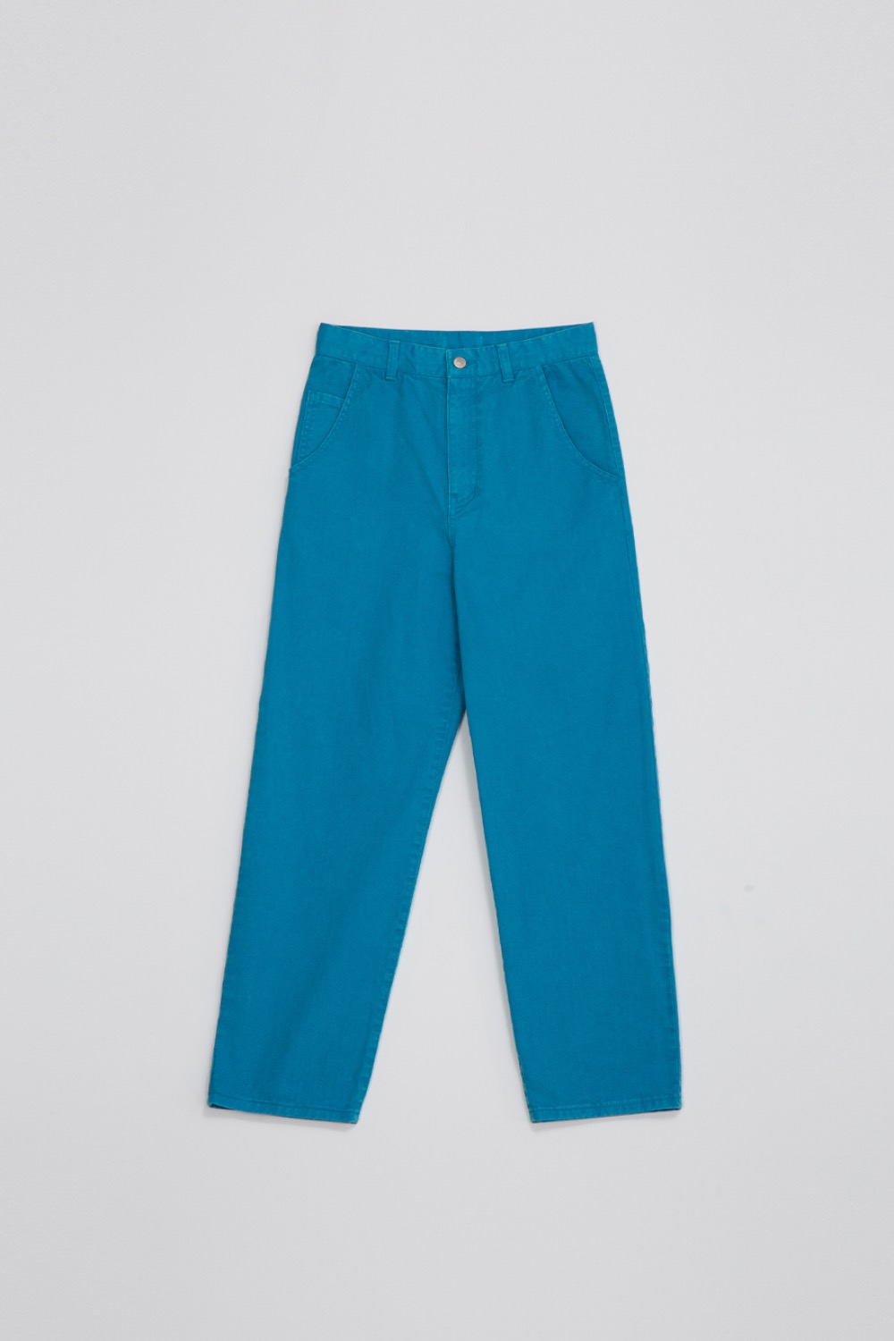 GARMENT DYED PANTS - AQUA BLUE COTTON