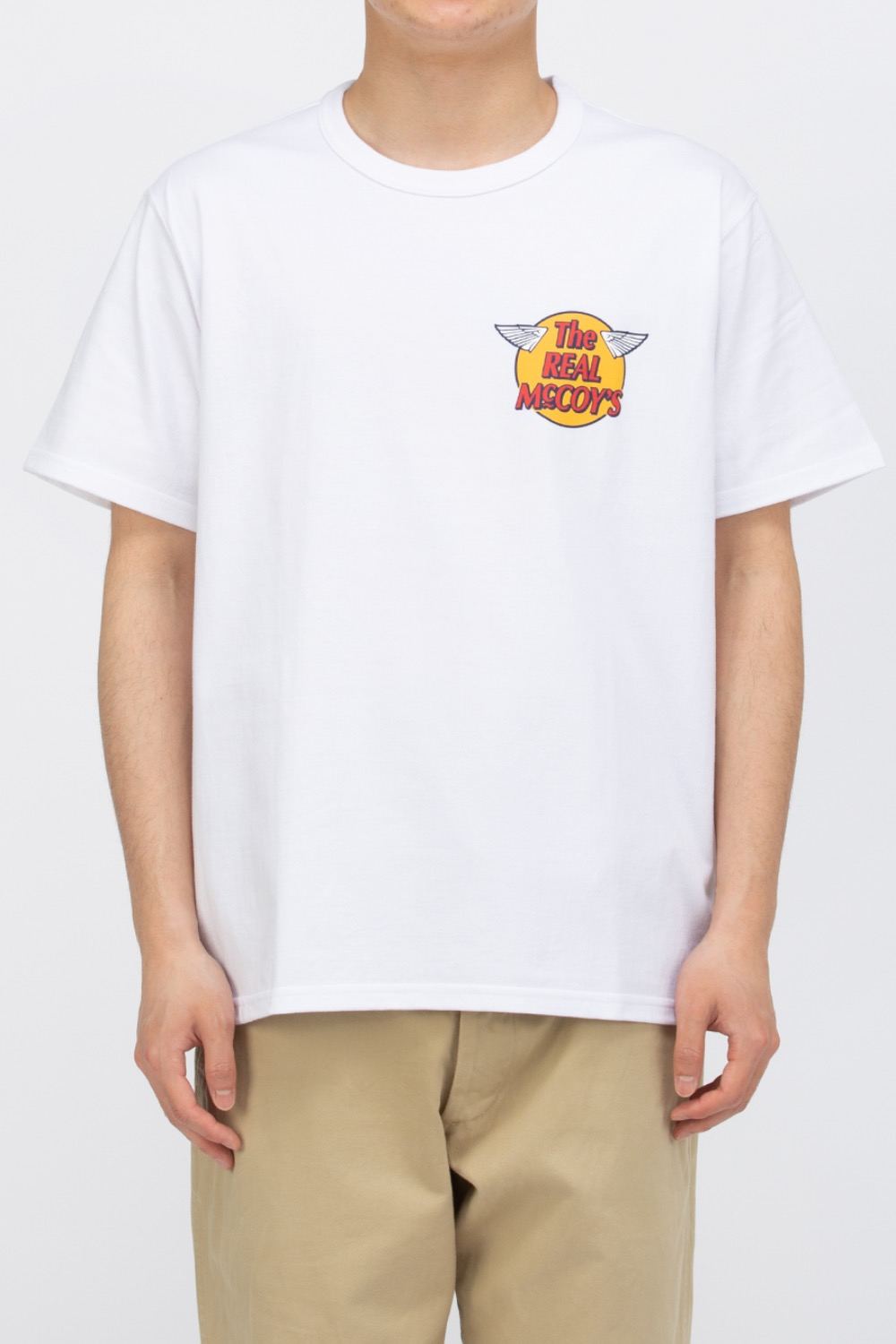 THE REAL MCCOY'S LOGO TEE S/S WHITE