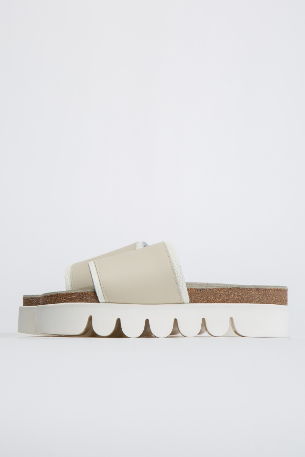 (DE-RS-CAT)CATERPILLAR SANDALS COW LEATHER WHITE